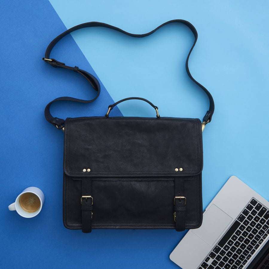 Leather Messenger Bag - Wandering Soul Range