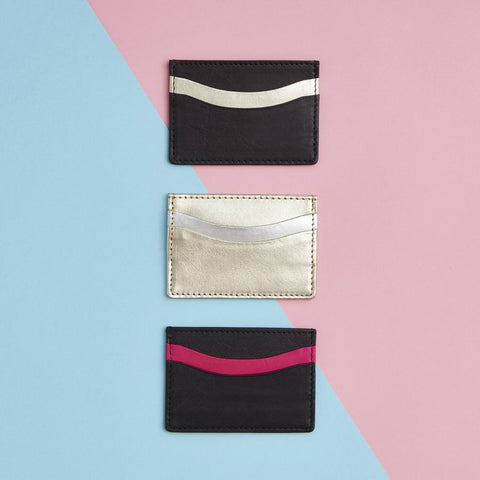 Womens Leather Credit Card Holder 3 Colours