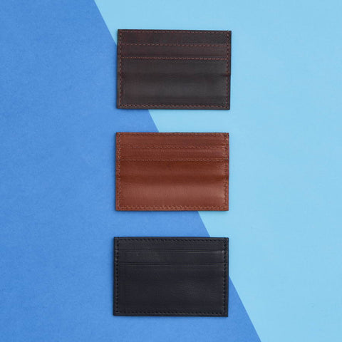 Mens Leather Credit Card Holder 3 Colours