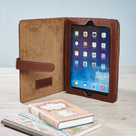 Dark Tan Leather iPad Mini Cover