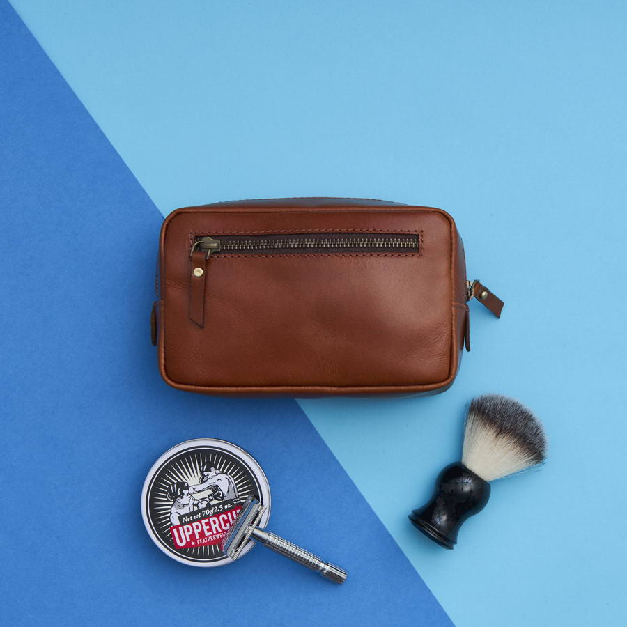 Beautiful Range of Leather Shaving Bags and Toiletry Bags