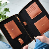 Leather iPad Travel Organiser