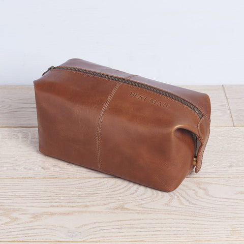 Best Man Leather Wash Bag
