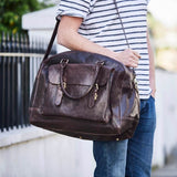 Men's Wandering Soul Leather Travel Bag