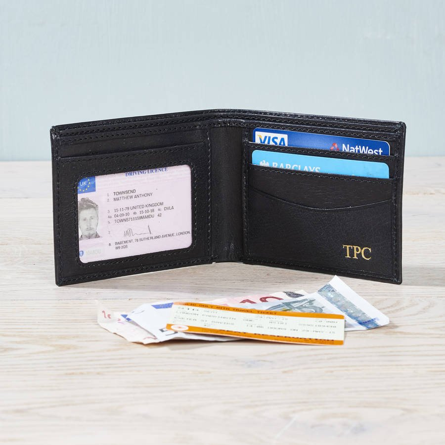 Black Leather ID Wallet