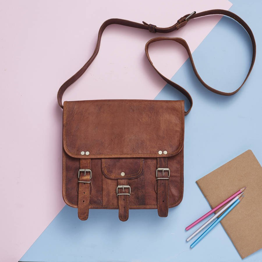 Midi Leather Satchel