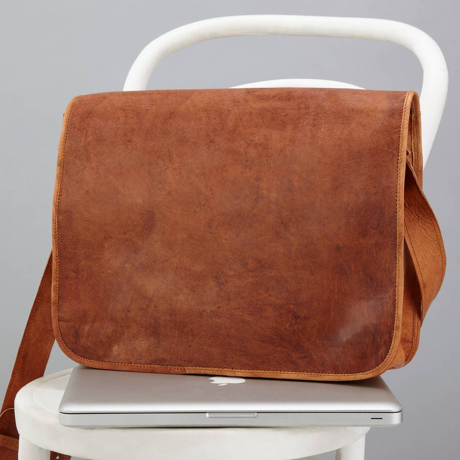 Vintage-Inspired Leather Messenger Bags and Laptop Bags 65ad23b00