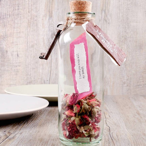 Valentines Message In A Bottle Rose