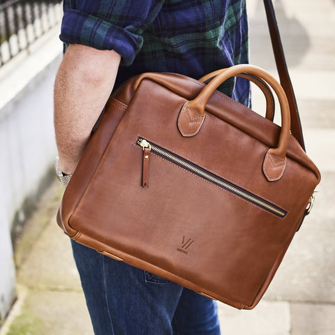 Vida Luxe Leather Laptop Bag