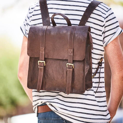 Men's Wandering Soul Leather Backpack