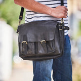 Maverick Leather Laptop Messenger