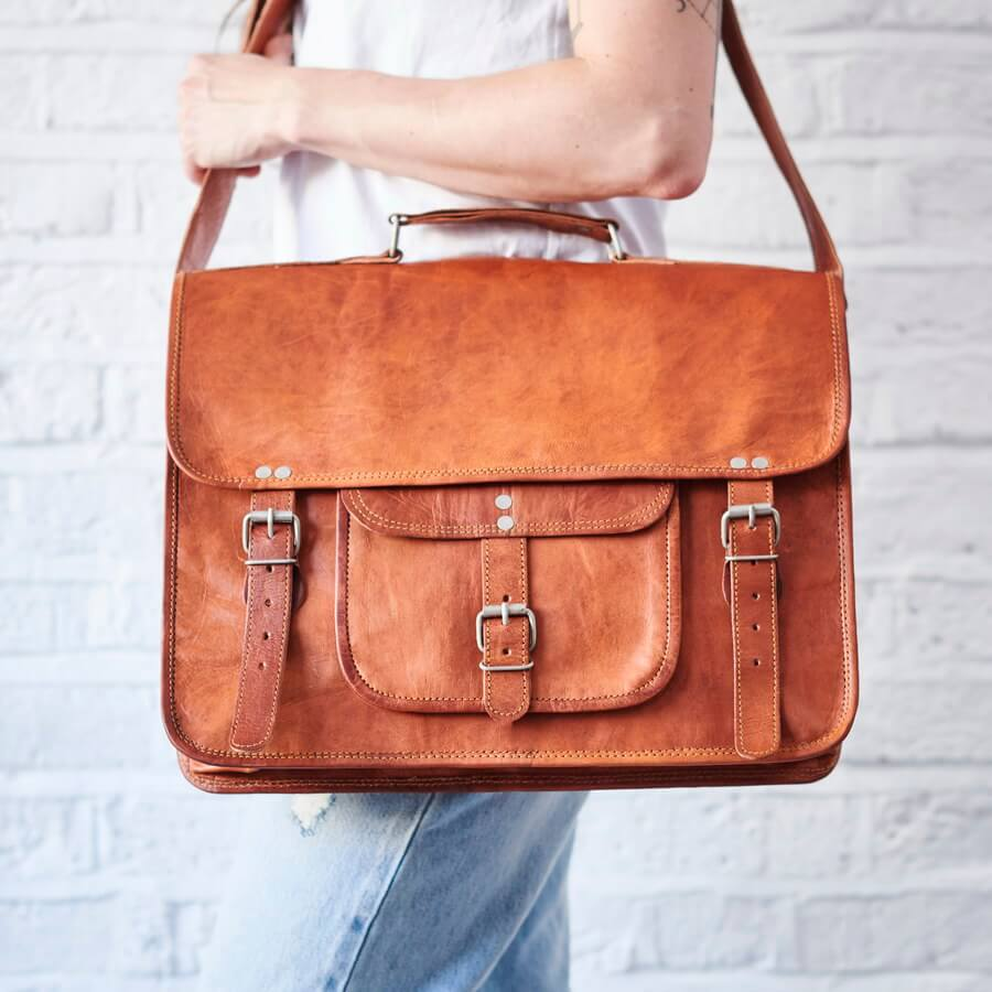 2f1820da4ca1 Gorgeous Range of Leather Satchels That Are Perfect Laptop Bags.