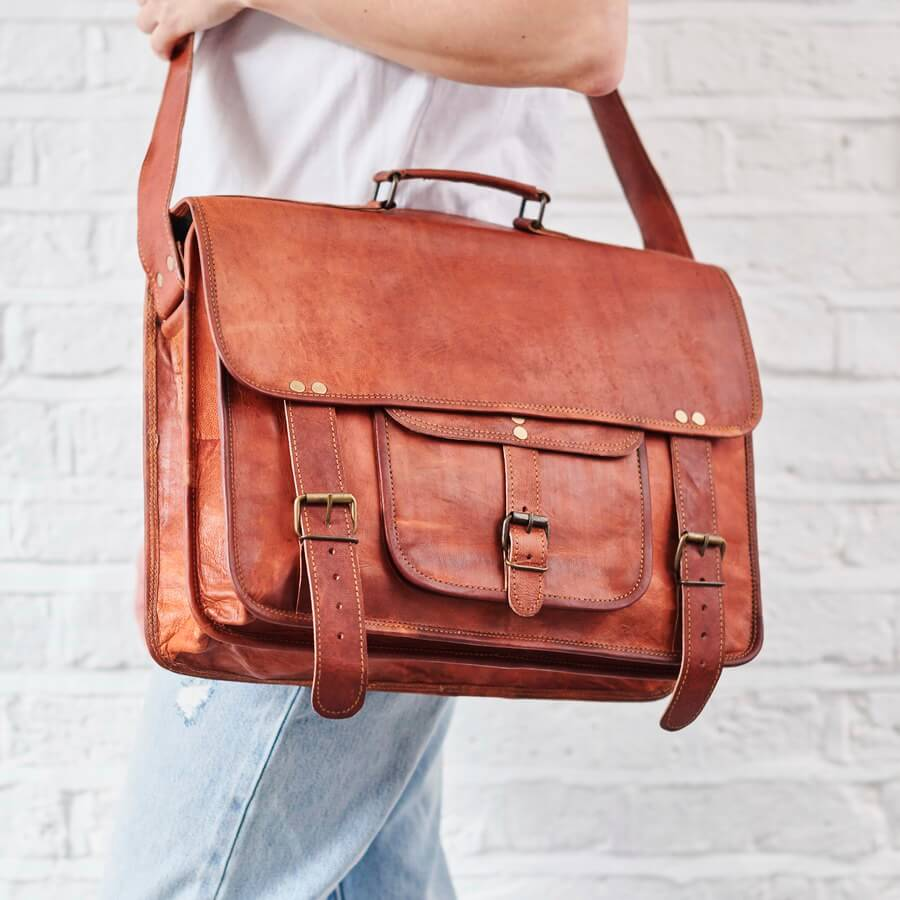 dece8bb5344d Extra Special Range of Handmade, Vintage-Inspired Leather Laptop Bags.