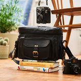 Black Leather Camera Bag
