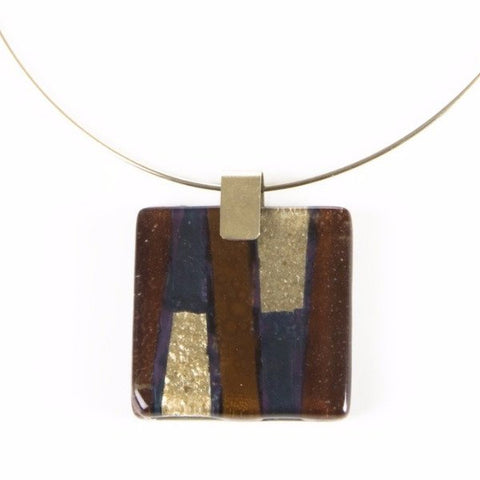 Glass Pendant Brown