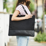 Large womens tote bag in black