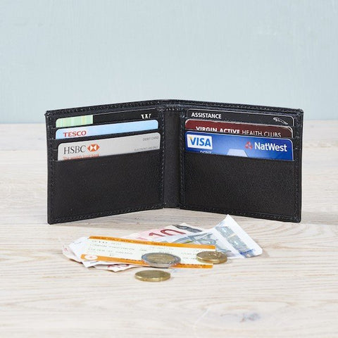 Black Leather Credit Card Wallet (contents not included)