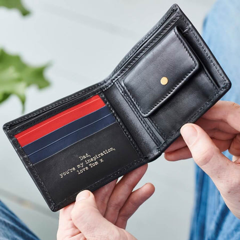 3 Colour Leather Coin Wallet with RFID
