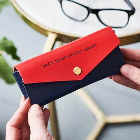 Secret Message Leather Glasses Case