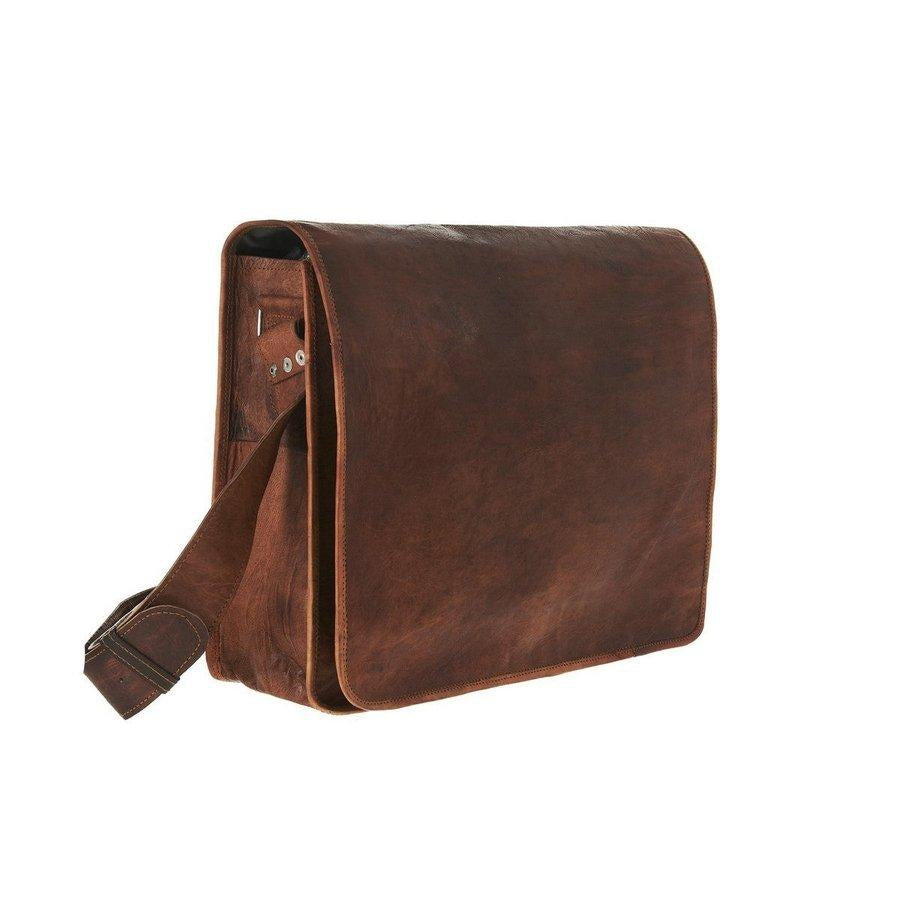 Vintage-Inspired Leather Messenger Bags Available In Many Sizes. c43cce429e4d