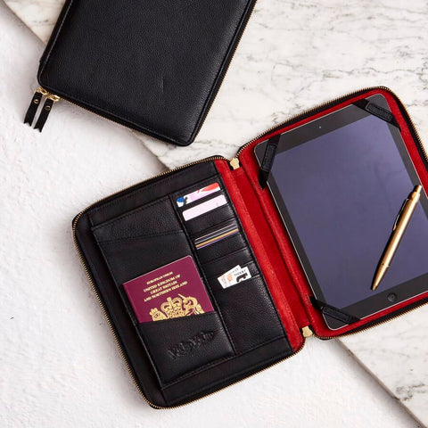 Luxe Leather iPad Case Organiser
