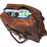 Mens Large Leather Weekend Travel Bag