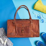 Men's Medium Leather Duffel Bag (accessories not included)