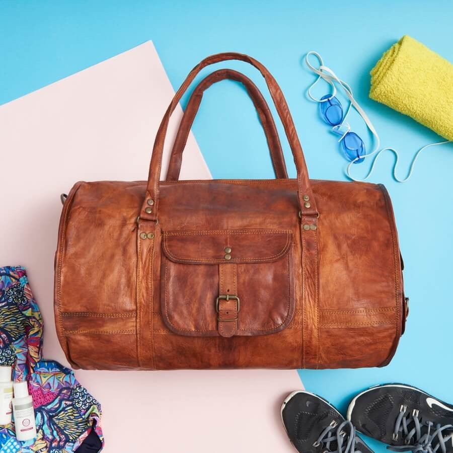 Gym Bag Nepal: Gorgeous Range Of Leather Duffel Bags