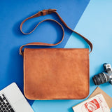Men's Leather Messenger Bag (accessories not included)