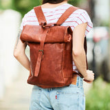 Bakckpack leather top