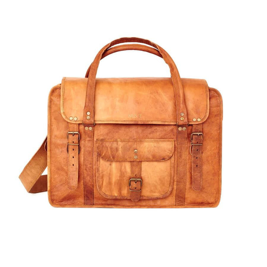 ... Extra Large Leather Weekend Bag · Personalised leather weekend bag with  initials ... f4ce54b5de088