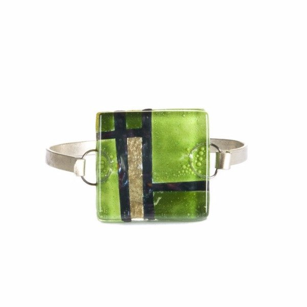 Glass Bangle Lime