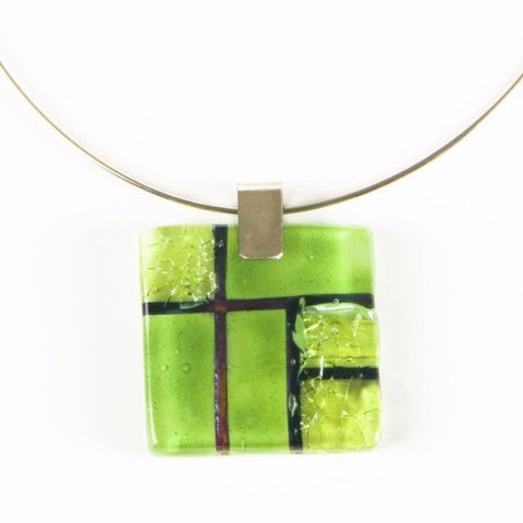 Glass Pendant Lime 2
