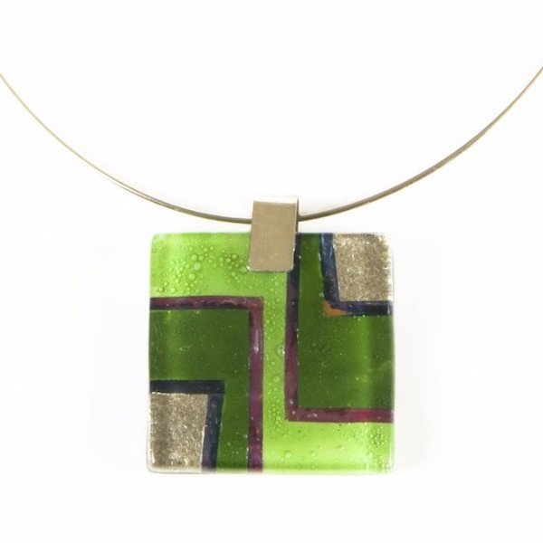 Glass Pendant Lime