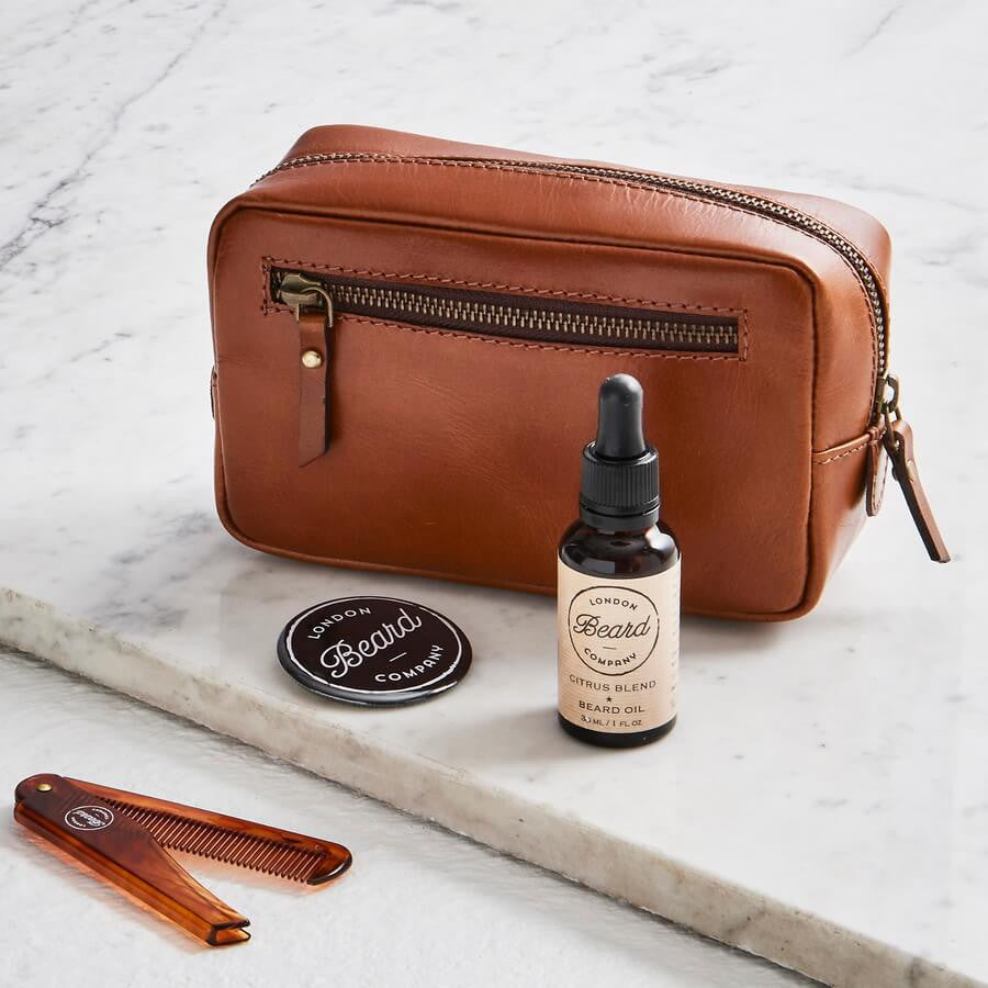 Beard care bag and products
