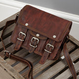 Mini Mini Leather Satchel with front pocket