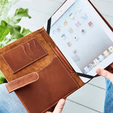 Leather iPad Cover Organiser