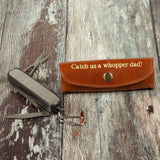 Fishermans pocket tool with leather holder present