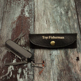Multitool fishing tool for dads in black leather