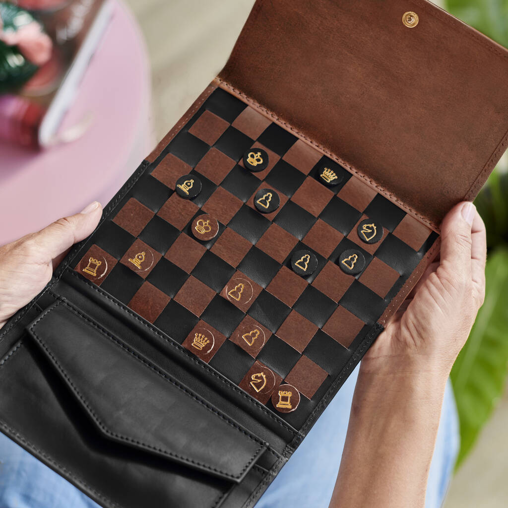 Personalised Leather Chess Set