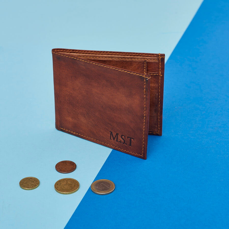Simple Leather Wallet with Coin Section