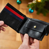 3 Colour Leather Tri Fold Wallet with RFID
