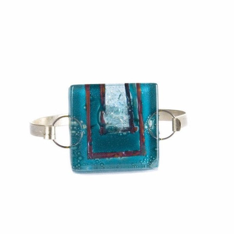 Glass Bangle Turquoise 2