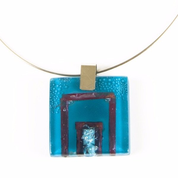 Glass Pendant Turquoise 2