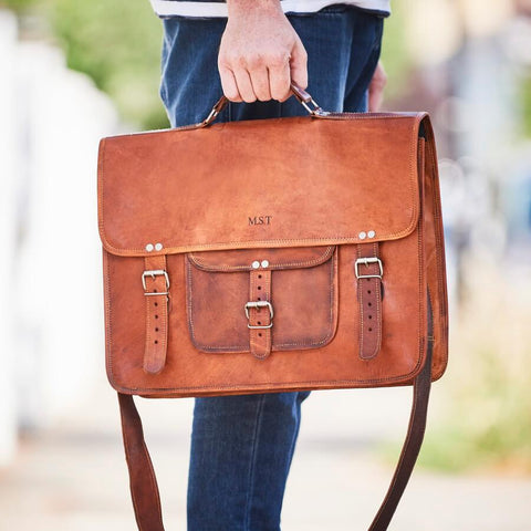 Grande Men's Classic Leather Satchel