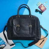 Men's Wandering Soul Leather Travel Bag Black