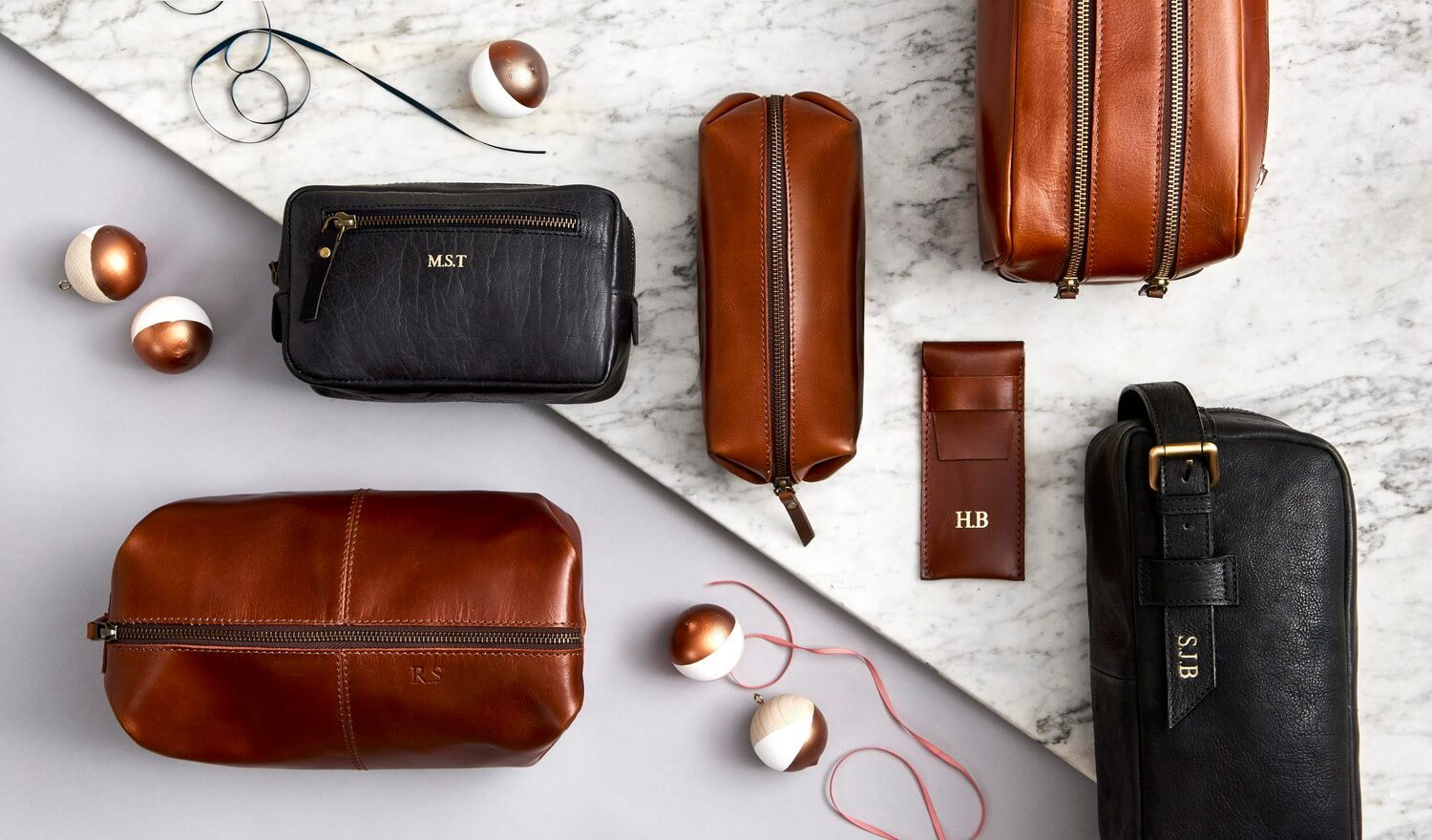 Personalised Leather Wash Bags and other gift ideas