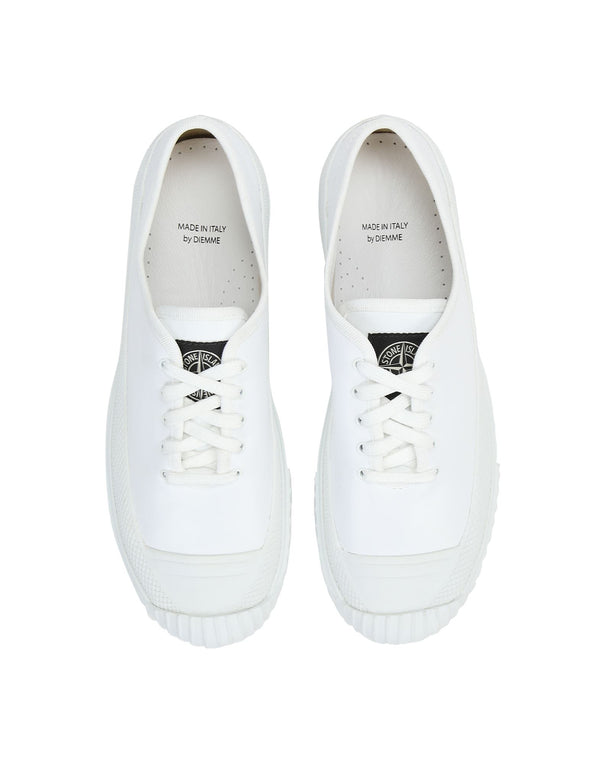 Low Deck Sneakers with White Logo