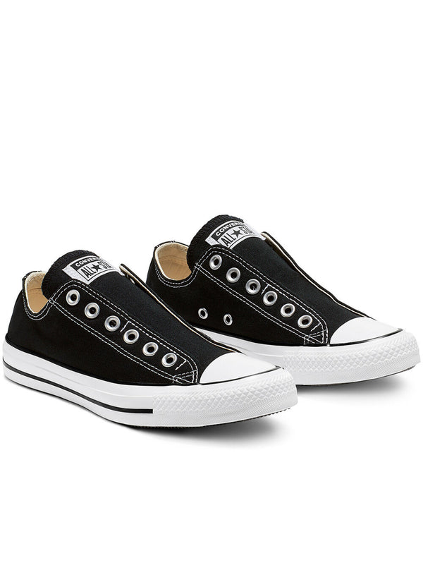 Sneakers Bassa Chuck Taylor Slip On Black White Black