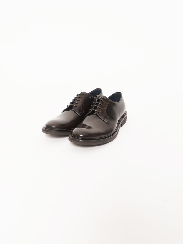 Classic Derby with Rubber Sole - Dark Brown